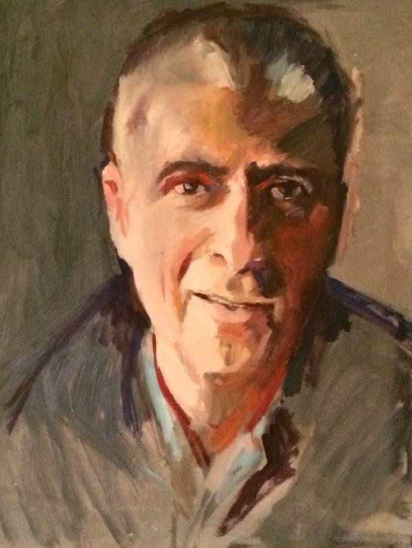 """""""My Dad"""" original fine art by Sharon Savitz"""