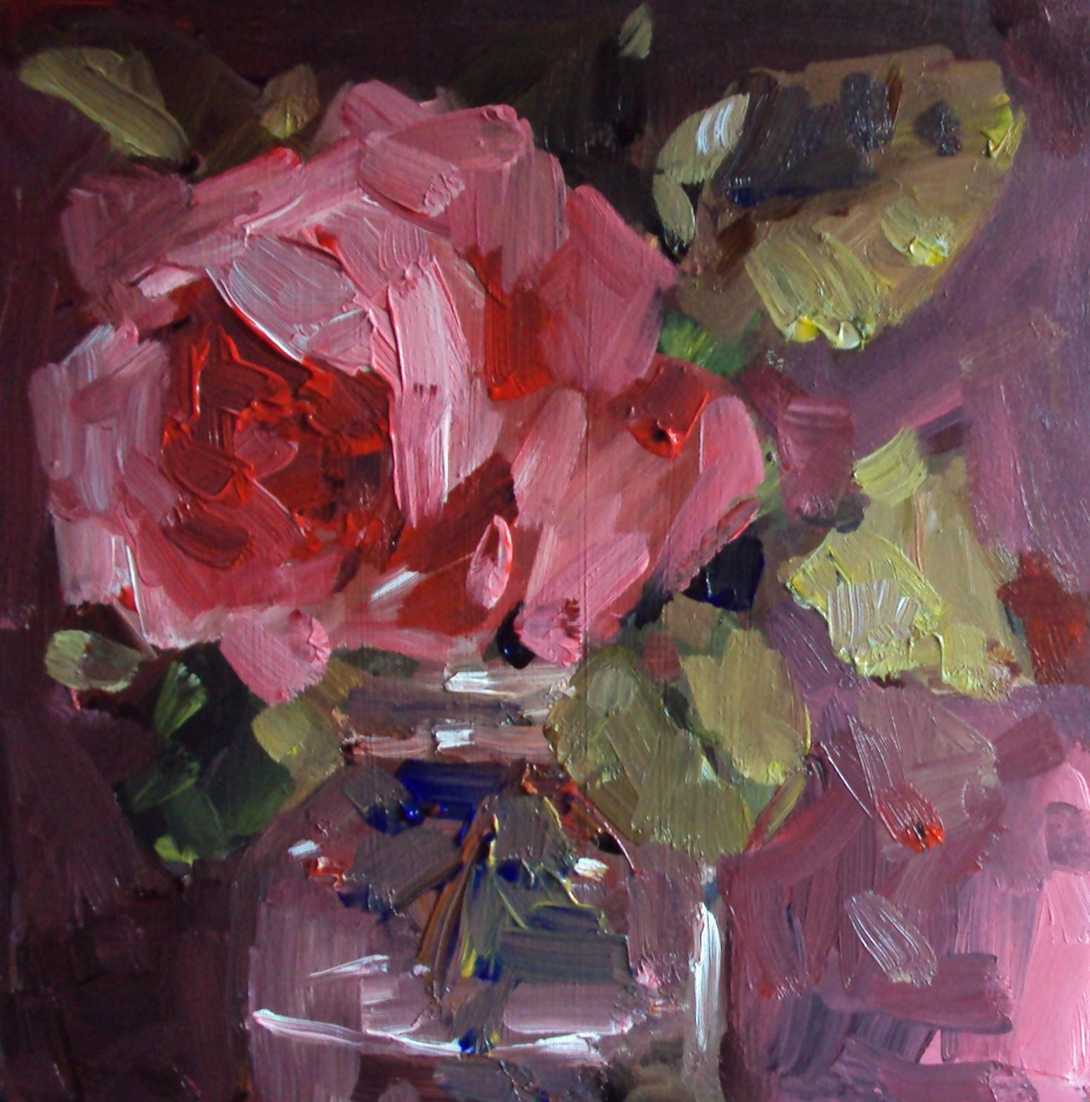 """pink shadows"" original fine art by Parastoo Ganjei"