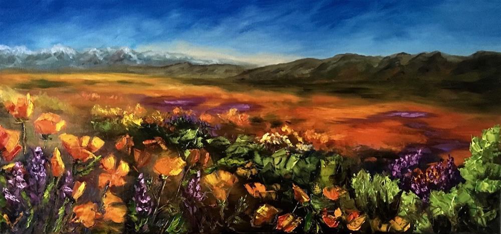 """""""A Poppy Buzz"""" original fine art by Karen Peikert"""