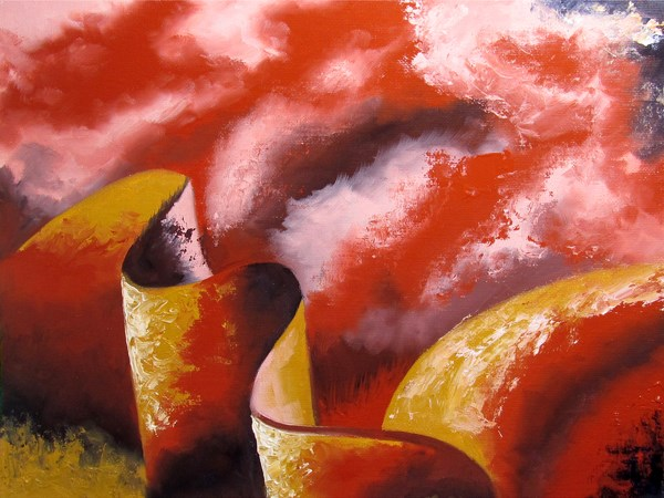 """Mark Webster - Abstraction 19 - Abstract Landscape Oil Painting"" original fine art by Mark Webster"