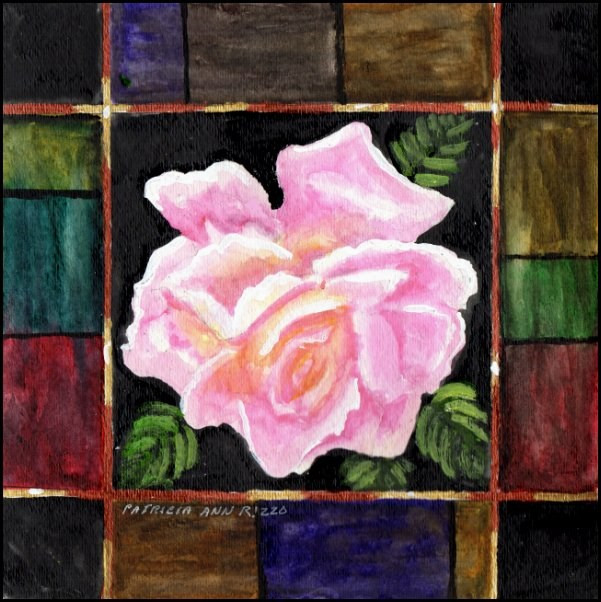 """Just My Garden Rose"" original fine art by Patricia Ann Rizzo"