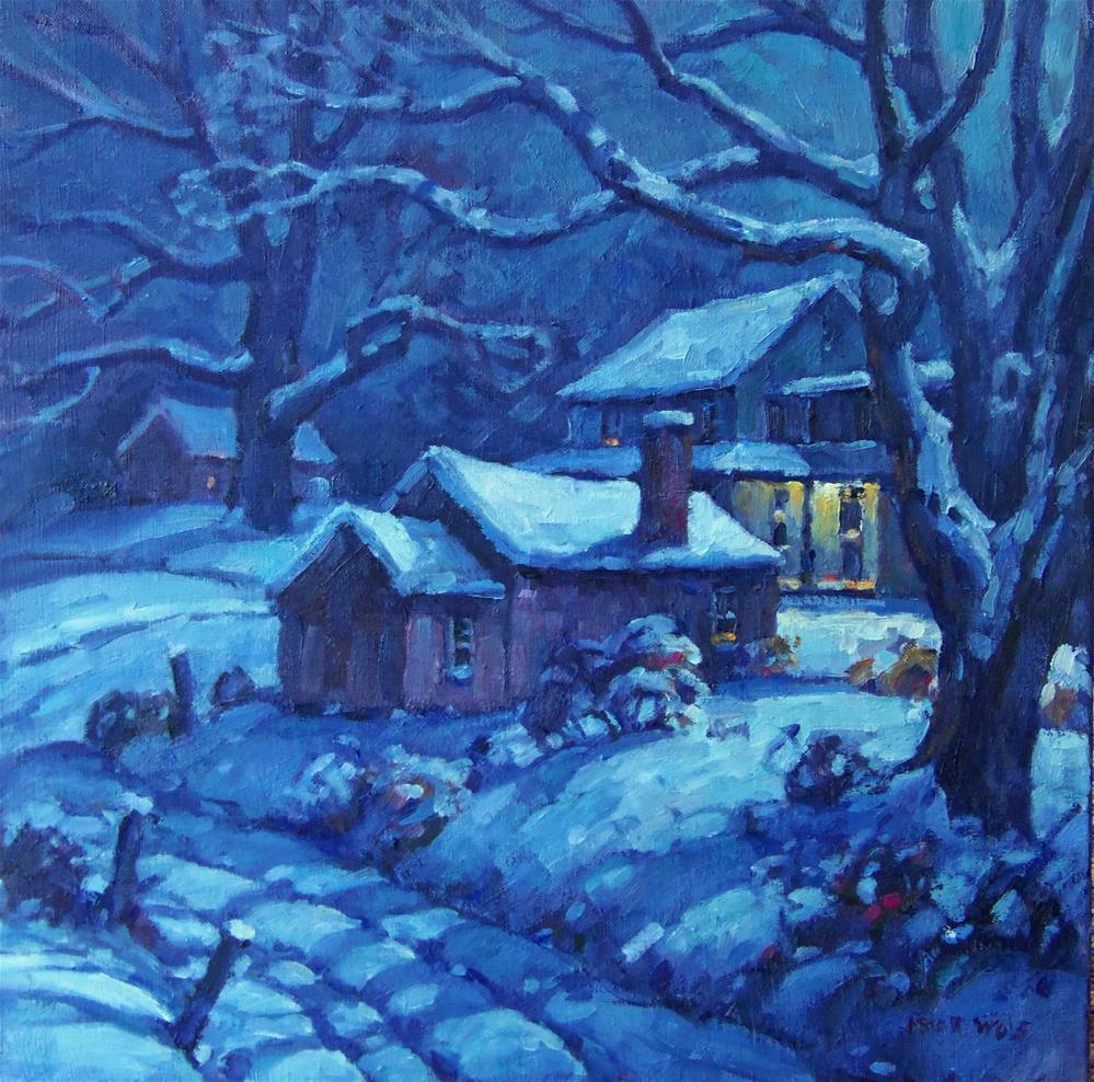 """Moonlight"" original fine art by J Scott Wolf"