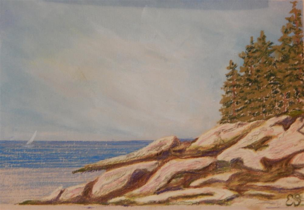 """""""A Beautiful Day on the Coast of Maine"""" original fine art by Elaine Shortall"""
