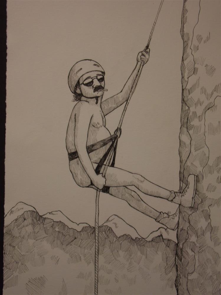 """""""An American Man, Nude, No. 290"""" original fine art by wanda sigafus"""