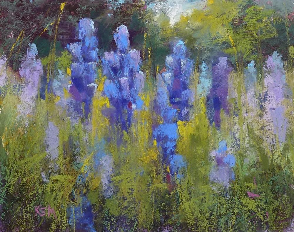 """Texas Bluebonnet Painting Demo"" original fine art by Karen Margulis"