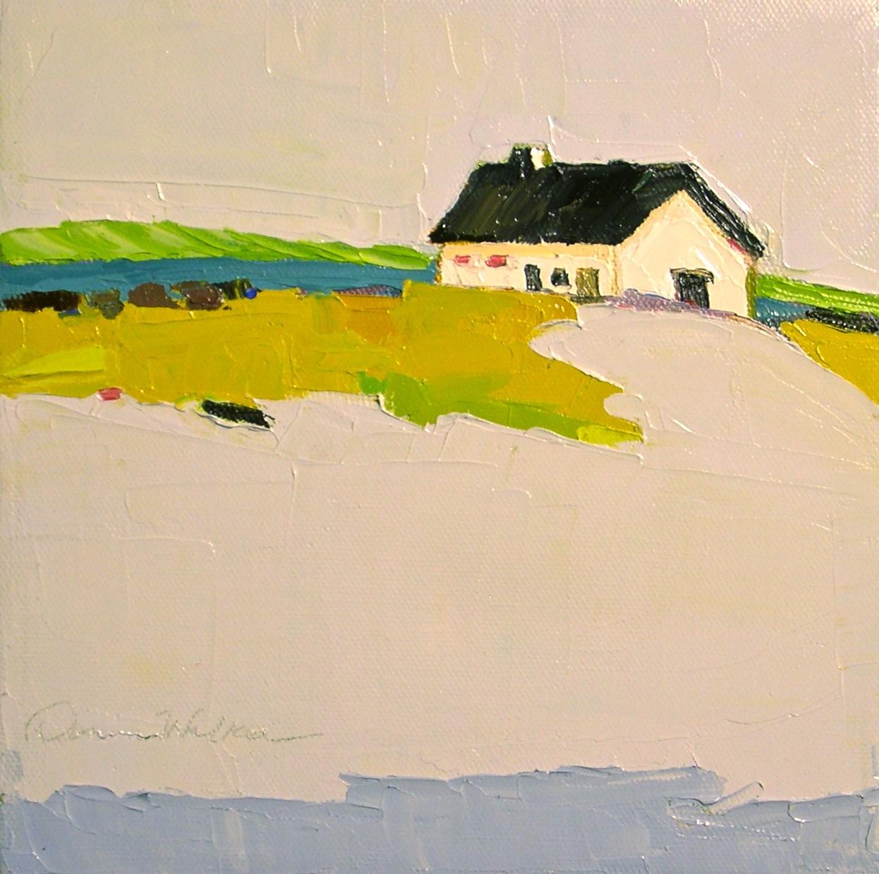 """Seaside Cottage II"" original fine art by Donna Walker"