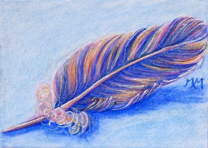 """Feather"" original fine art by Monique Morin Matson"