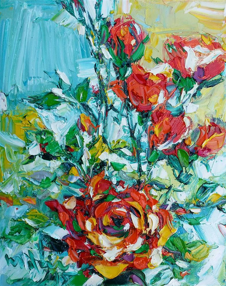 """Roses"" original fine art by Duc Tran"