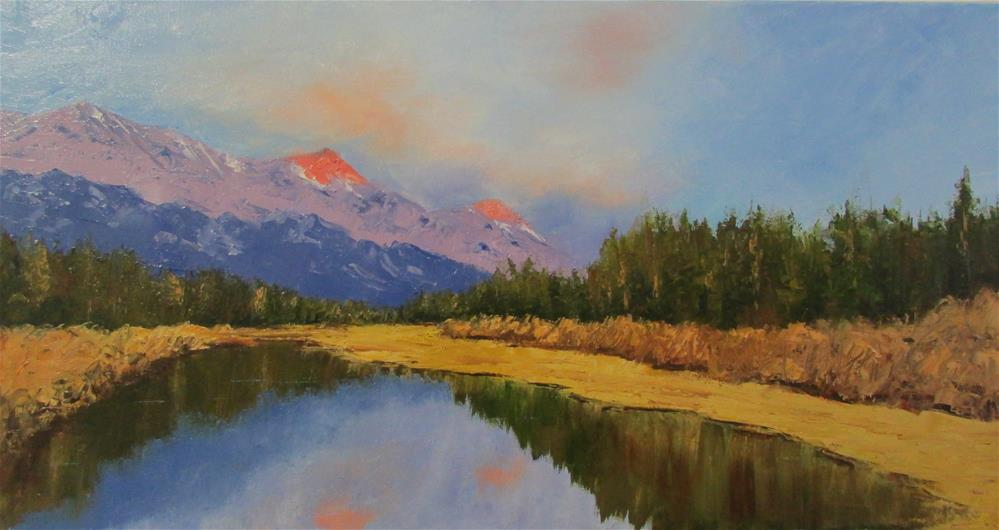 """12 x 24 inch oil Canmore, Alberta"" original fine art by Linda Yurgensen"