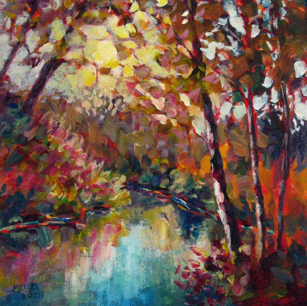 """Bend in the River"" original fine art by Melissa Gannon"