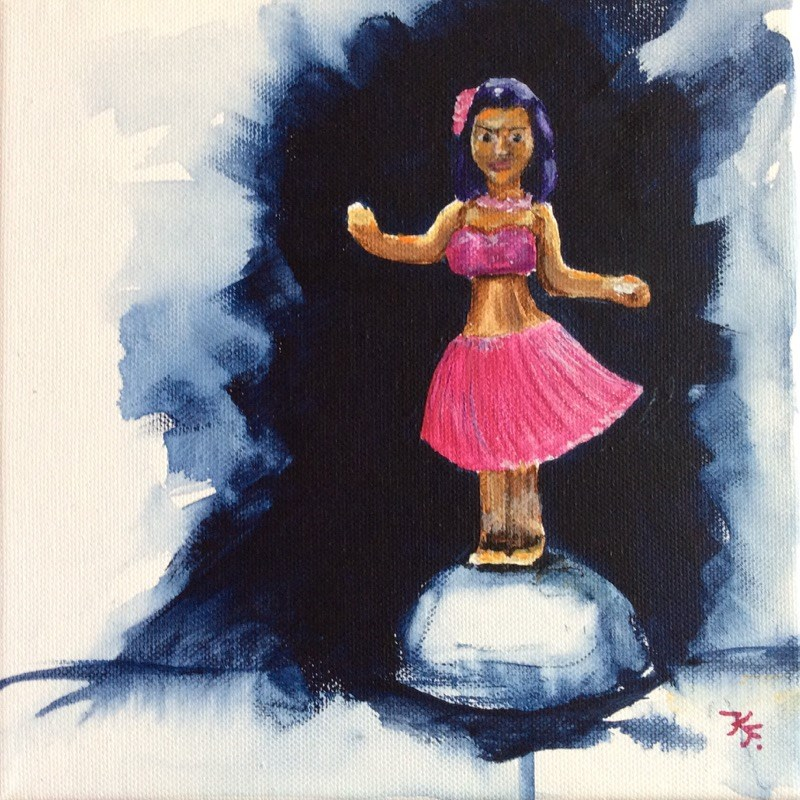 """Aloha"" original fine art by Klaudia Frieda"