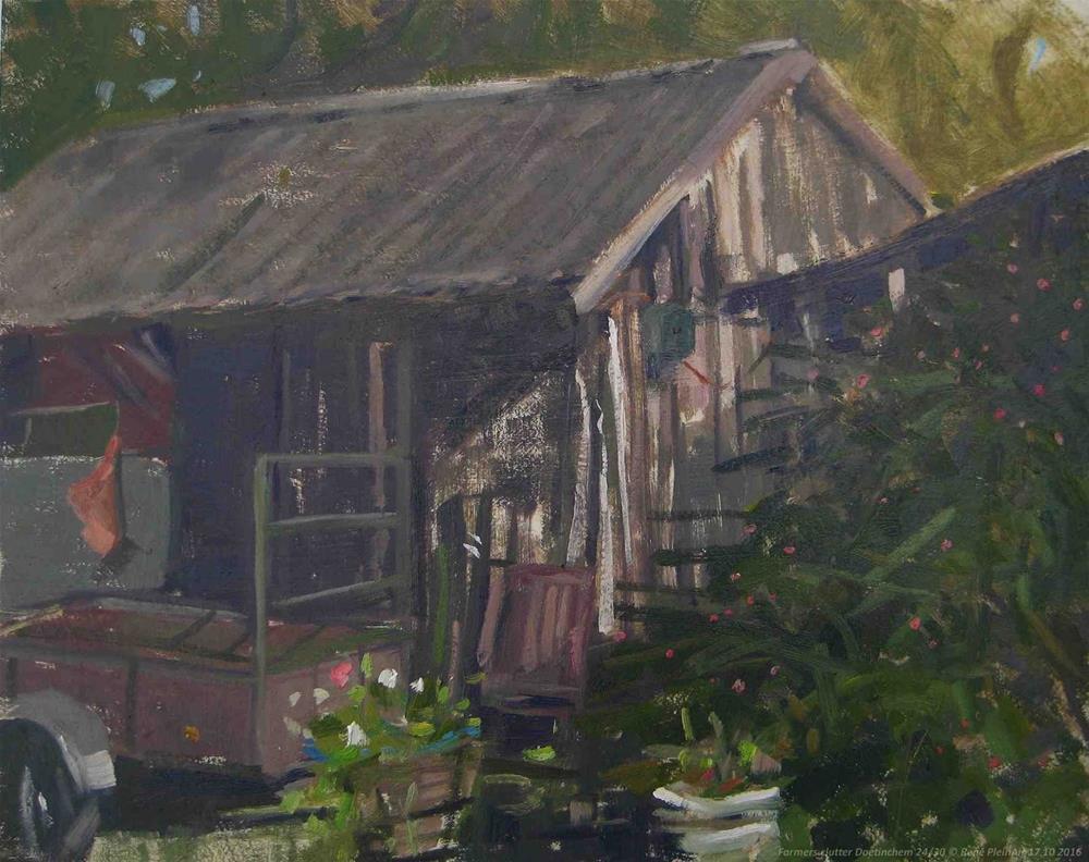 """Farmers Clutter. Doetinchem, The Netherlands."" original fine art by René PleinAir"