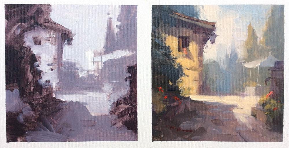 """""""Fattorie Di Celli"""" original fine art by Richard Robinson"""