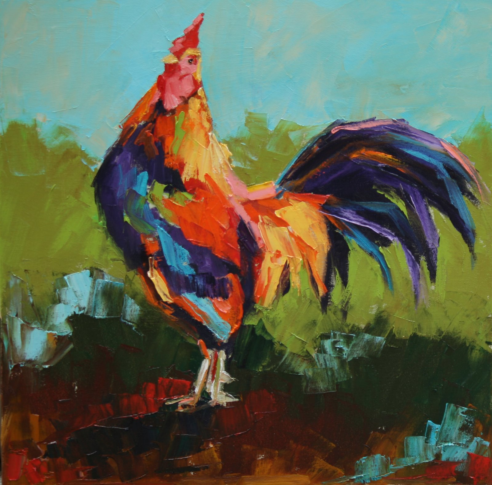 """Morning Strut"" original fine art by Carol Carmichael"