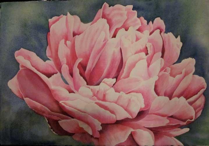 """giving YOU up"" original fine art by Teresa Beyer"