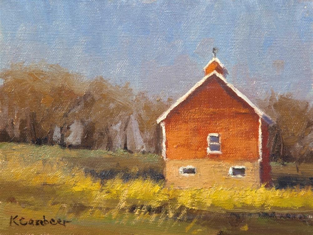 """Barn on Deep Creek Road"" original fine art by Kim Casebeer"