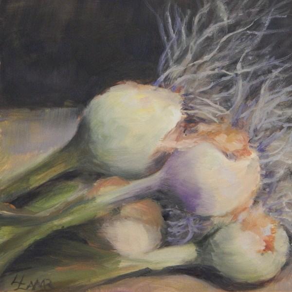 """""""Onions"""" original fine art by Lori L. Lamb"""