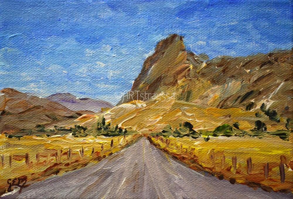 """Canterbury Road (Charity)"" original fine art by Gloria Ester"