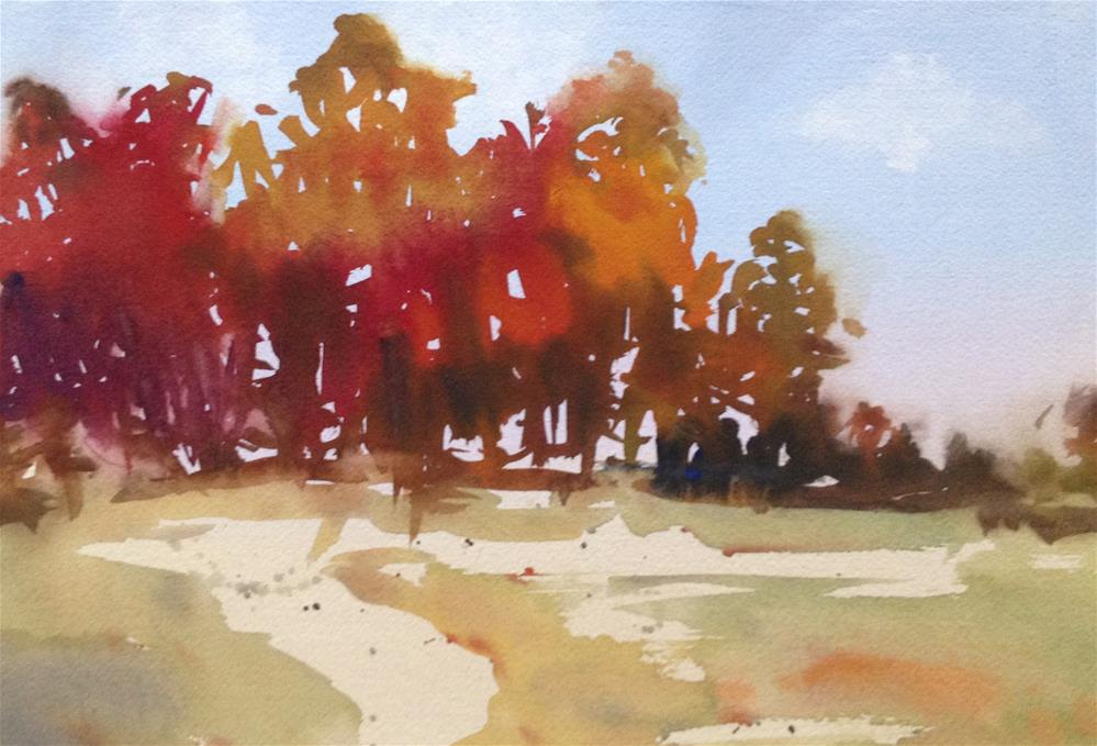 """Fall Colors"" original fine art by Julie Crouch"
