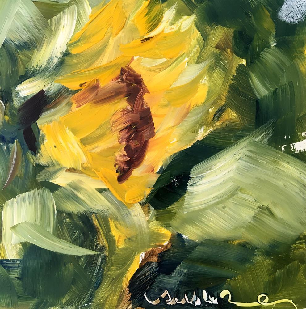 """""""Miniature Sunflower"""" original fine art by Susan Elizabeth Jones"""