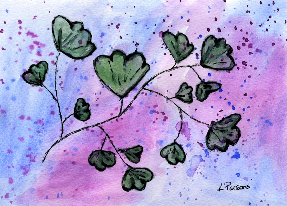 """Creek Vine"" original fine art by Kali Parsons"