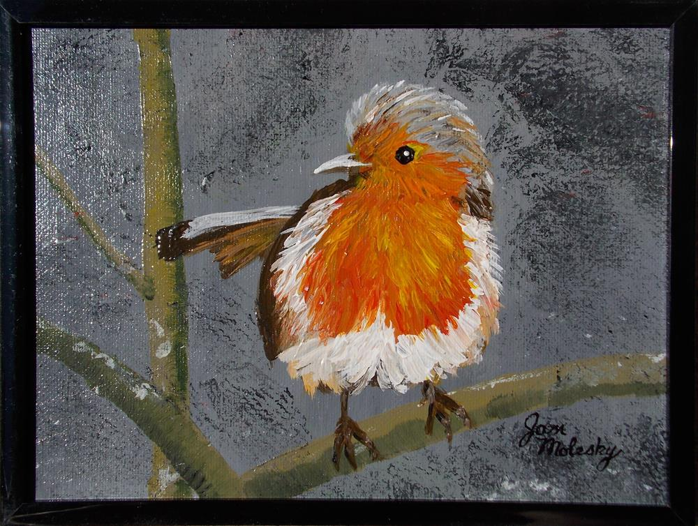 """Robin Fledgling II"" original fine art by Jan Molesky"