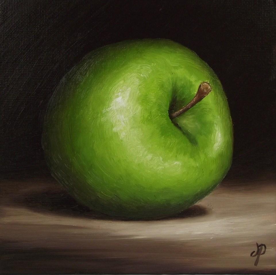"""Granny Smith Apple"" original fine art by Jane Palmer"