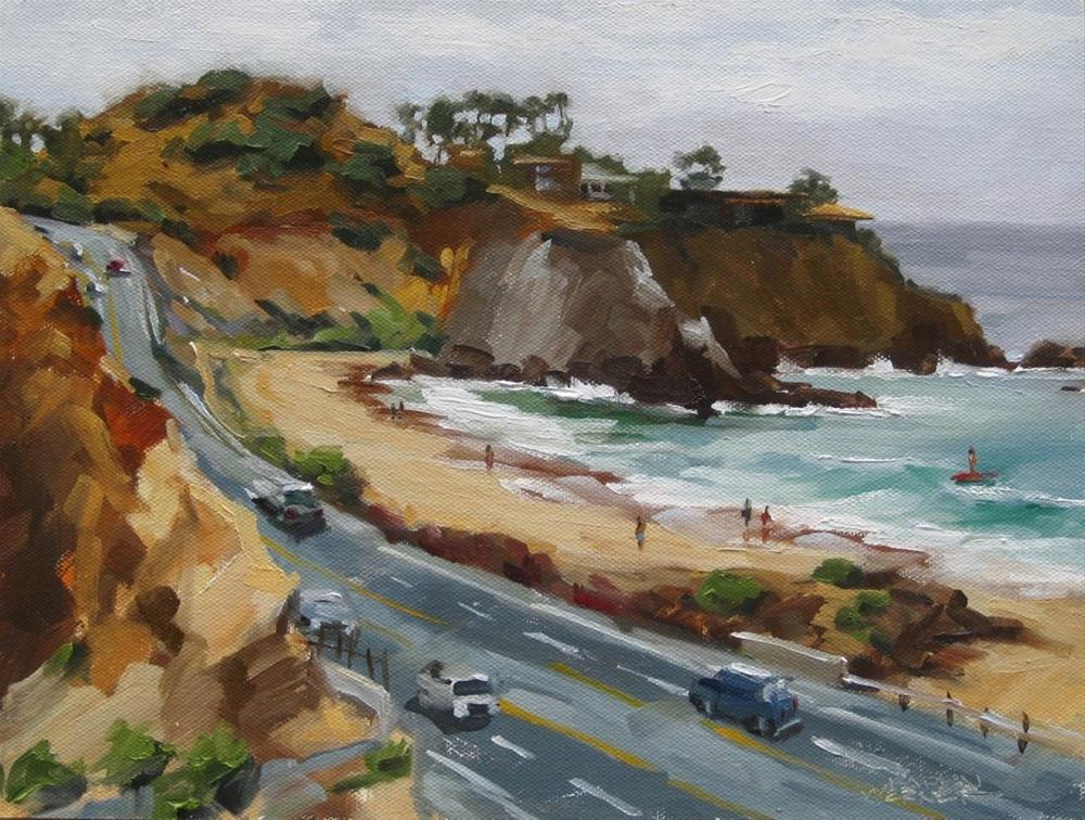 """Pacific Coast Highway at Moro Beach"" original fine art by Karen Werner"