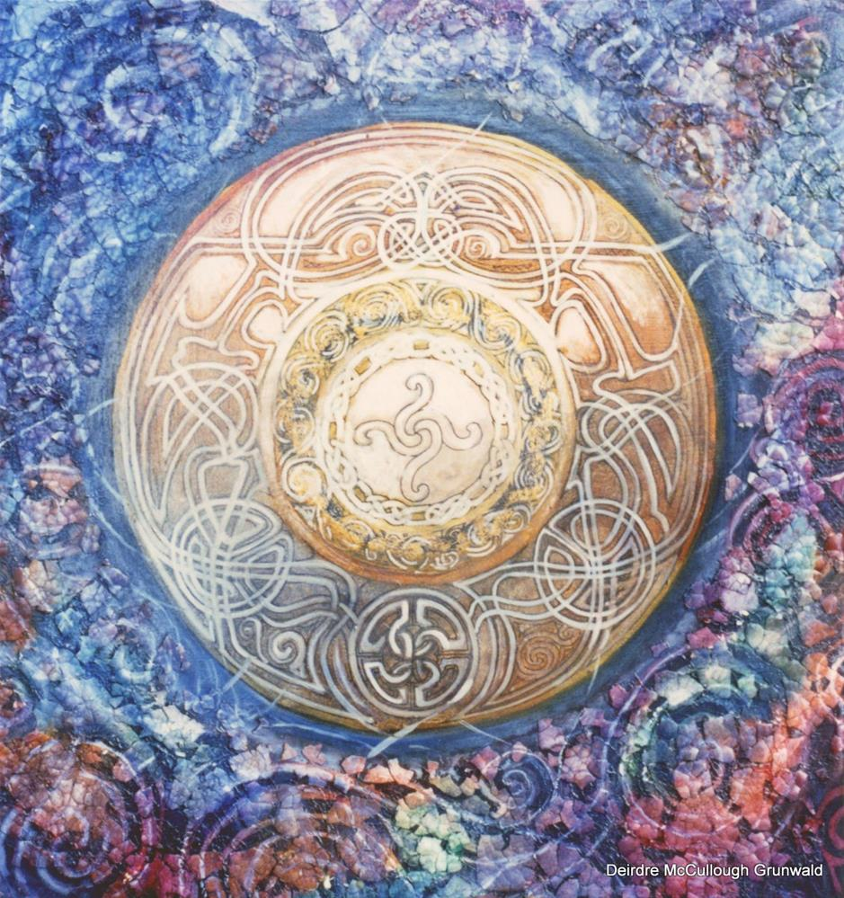 """Mosaic Mandala"" original fine art by Deirdre McCullough Grunwald"