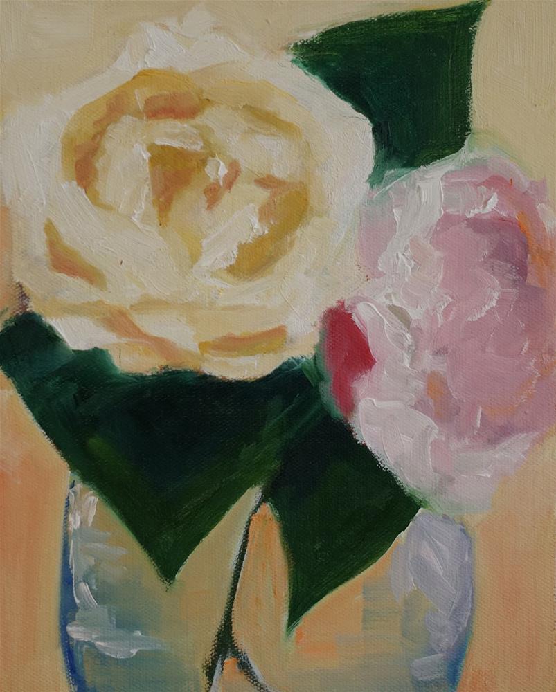 """""""Peonies"""" original fine art by Catherine Van Berg"""