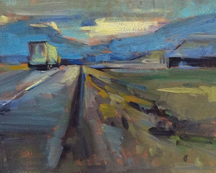 """Driving South"" original fine art by Patti McNutt"