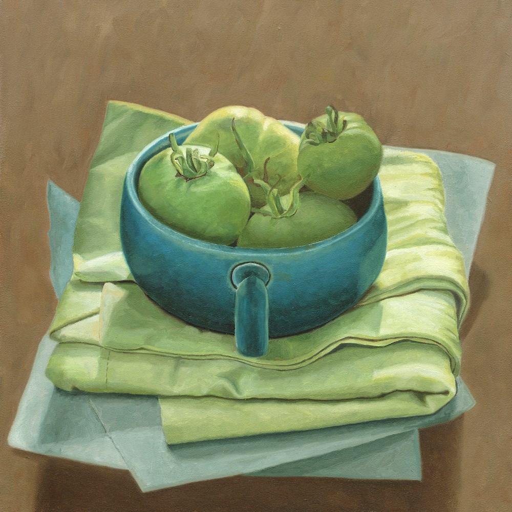 """Green Tomatoes"" original fine art by Susan Fern"