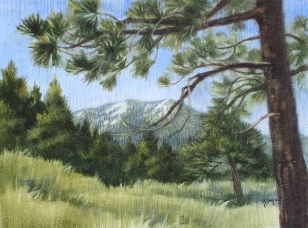 """San Bernardino Peak"" original fine art by Ginger Pena"