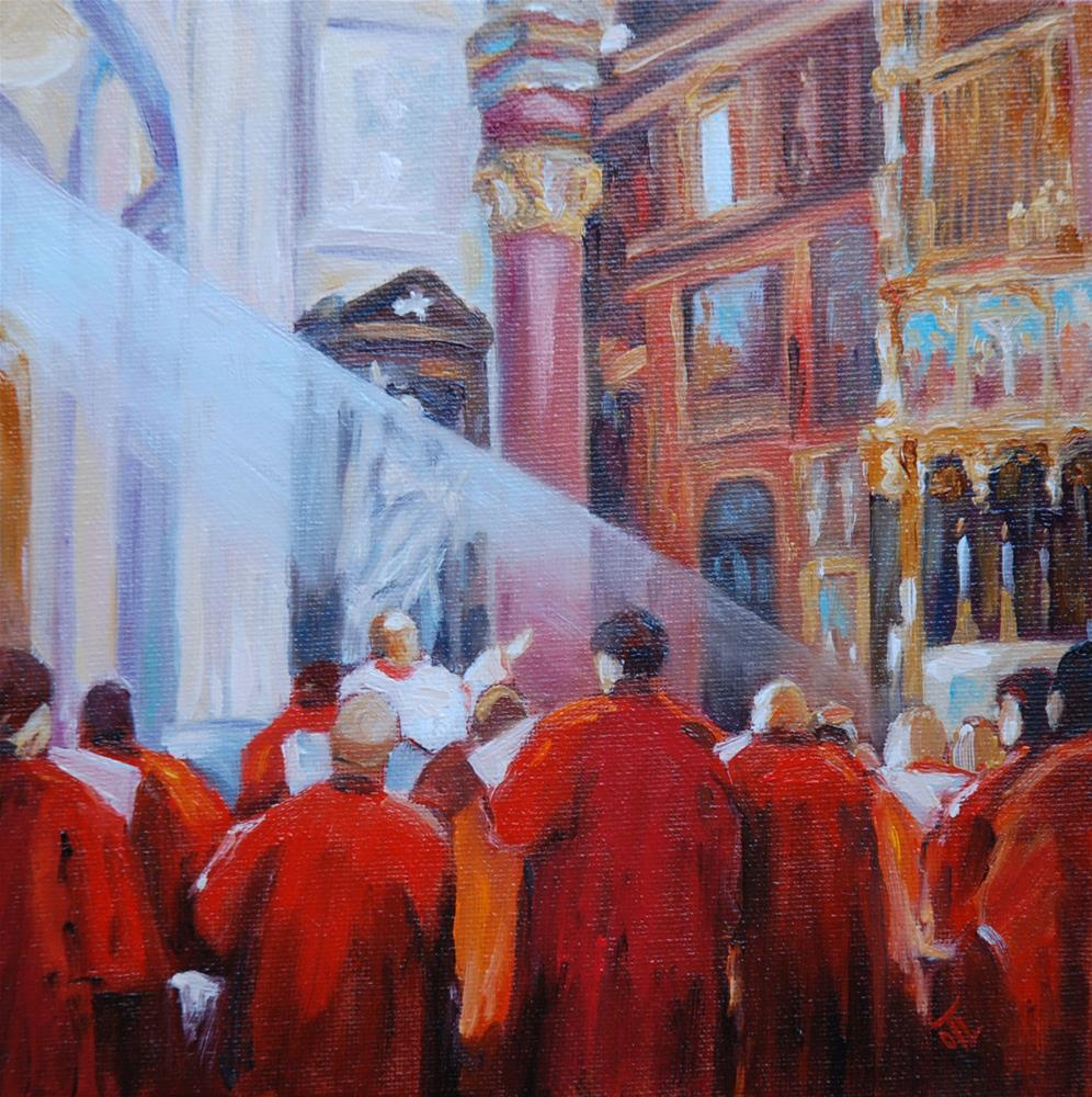 """DCS # 8 from Roman vacation - Signing for angels"" original fine art by Olga Touboltseva-Lefort"