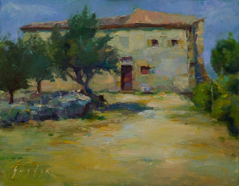 """Old Granary in Provence"" original fine art by Julie Snyder"