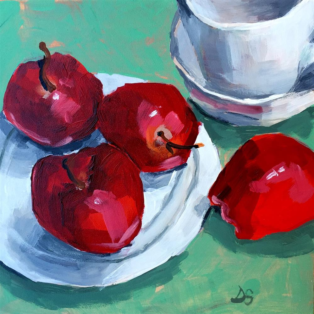 """Delicious on White Plate #2"" original fine art by Diana Stewart"