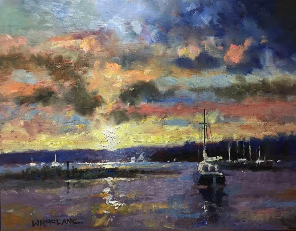 """Bay Light"" original fine art by William  McLane"
