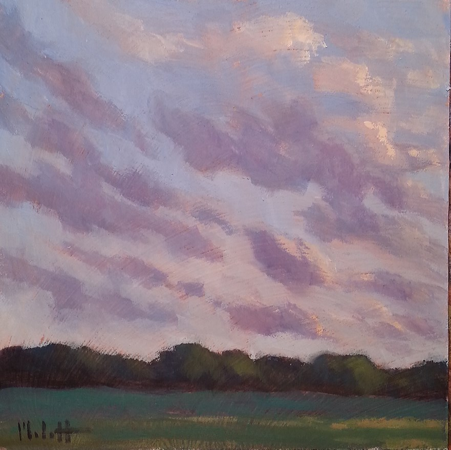 """Clouds Contemporary Impressionism Original Daily Oil Painting"" original fine art by Heidi Malott"