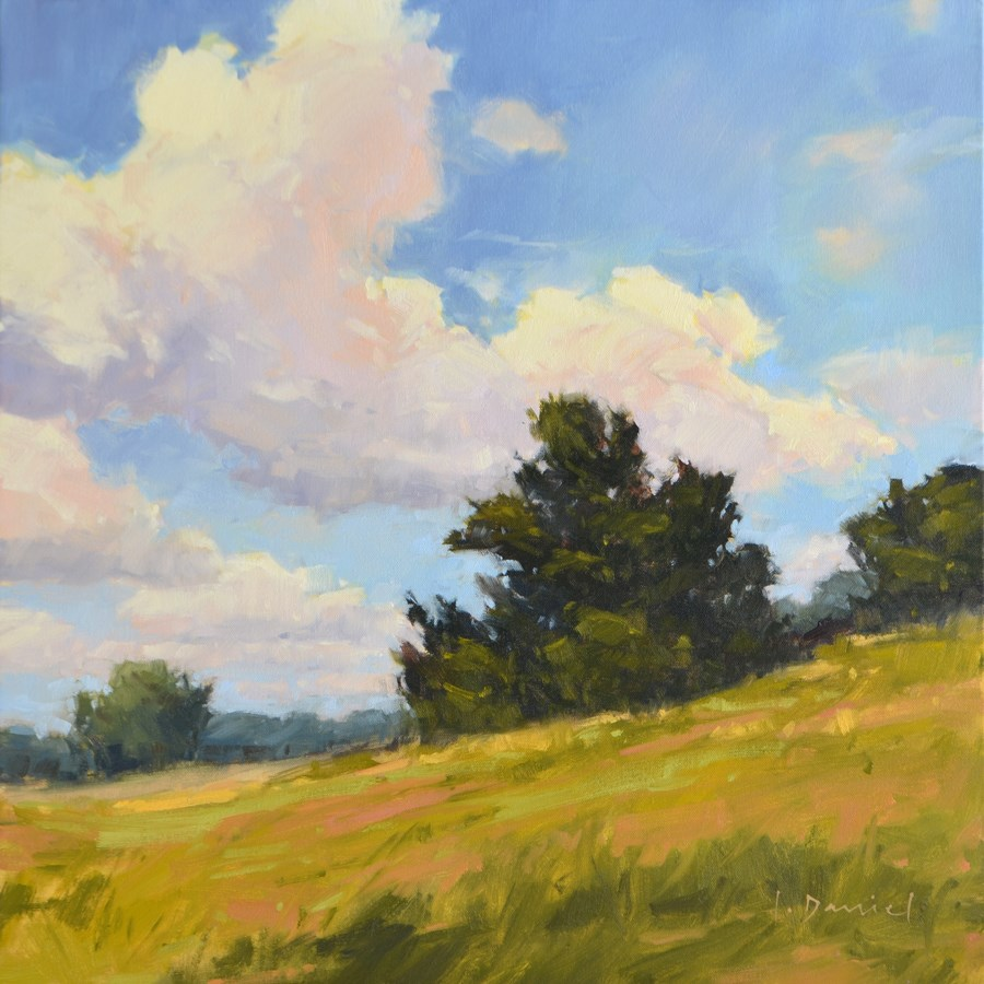 """Hillside Ridge - Show Tip #9"" original fine art by Laurel Daniel"