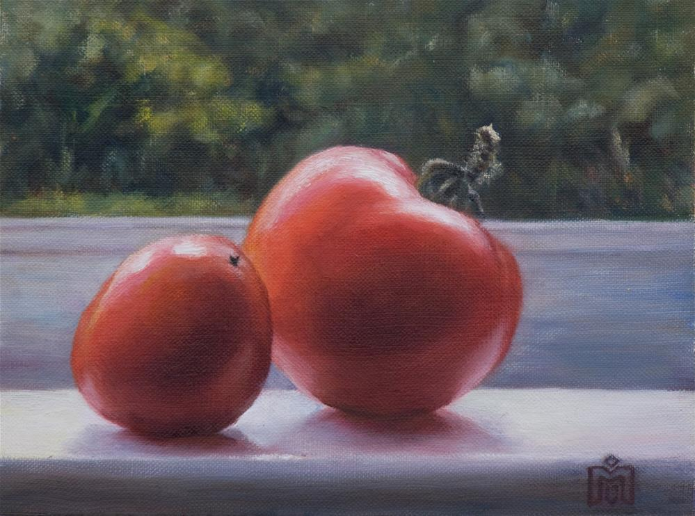 """Ripening Tomatoes"" original fine art by Melissa  Imossi"