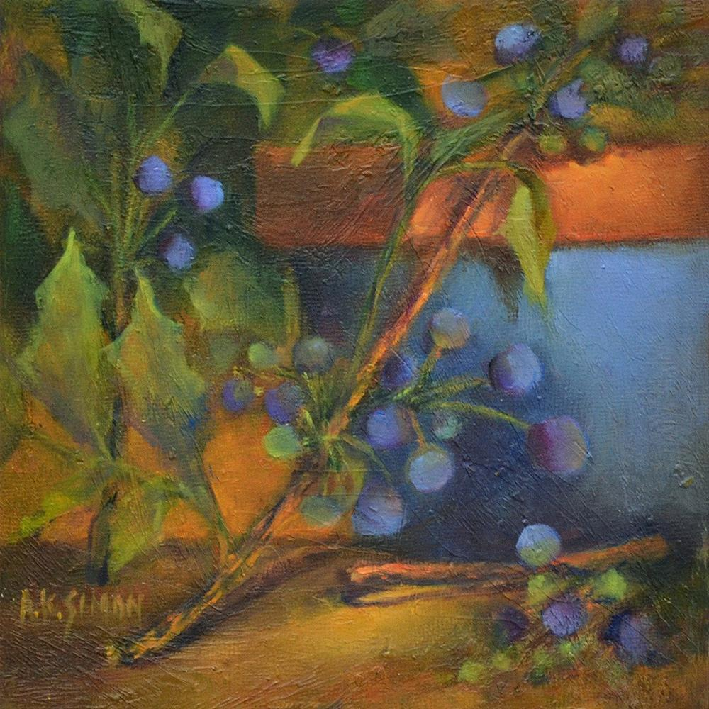"""Oregon's State Flower - or Fruit?"" original fine art by A.K. Simon"