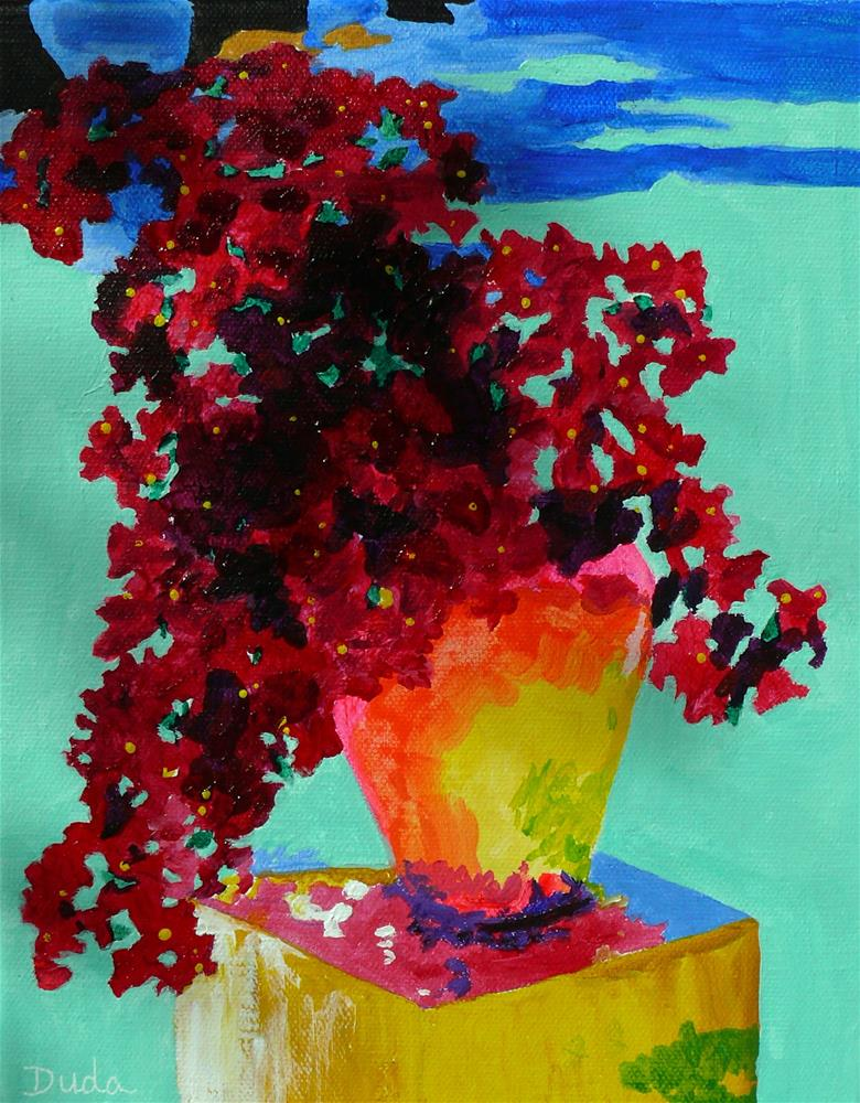 """Bougainvillea Aglow"" original fine art by Susan Duda"