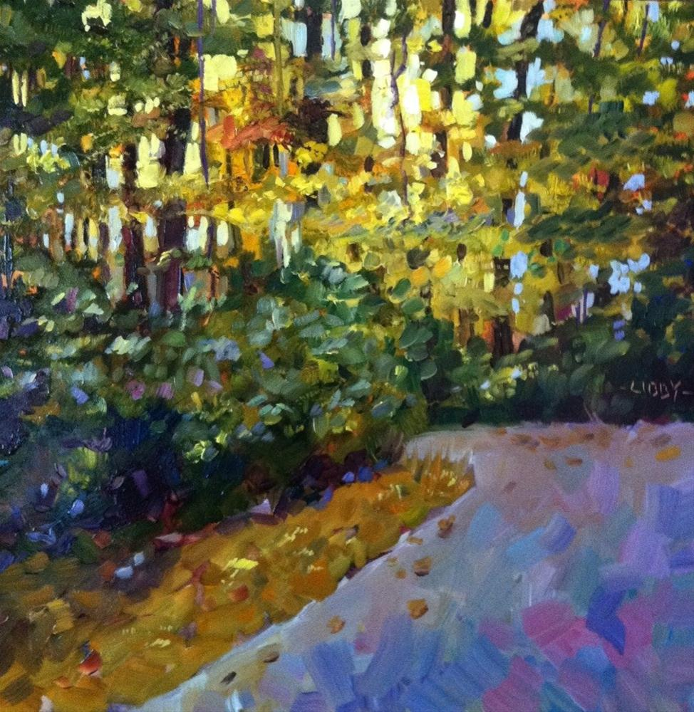 """Afternoon Path"" original fine art by Libby Anderson"