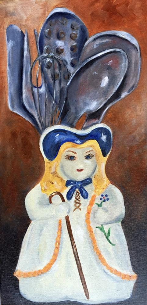 """Nana's Vase Lady"" original fine art by Dicksie McDaniel"