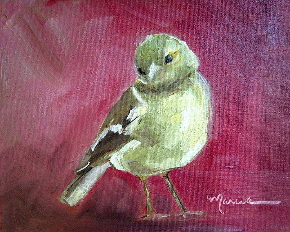 """Really?"" original fine art by Marcia Hodges"