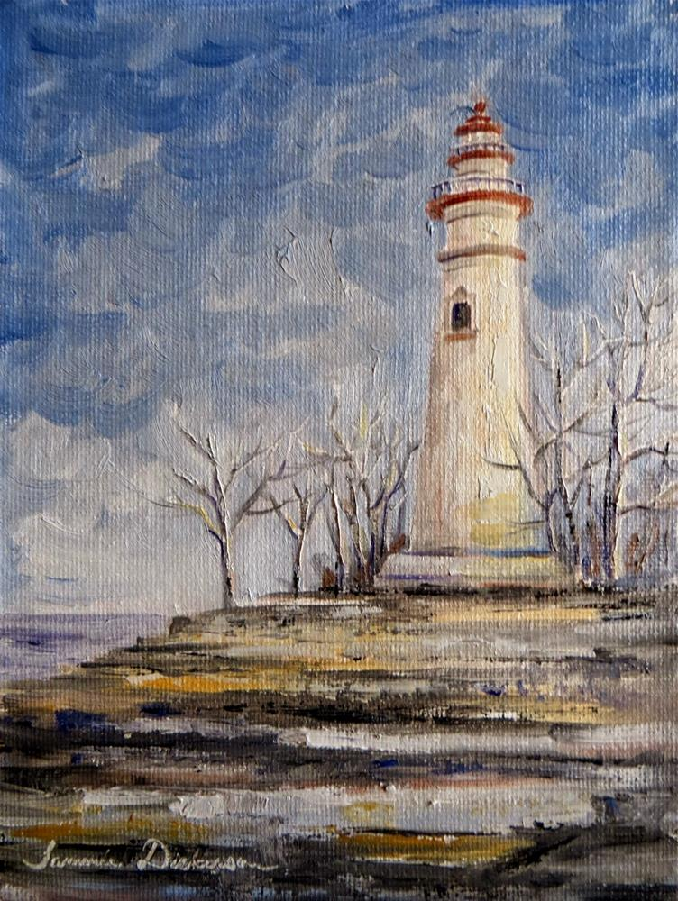 """Marblehead Lighthouse"" original fine art by Tammie Dickerson"