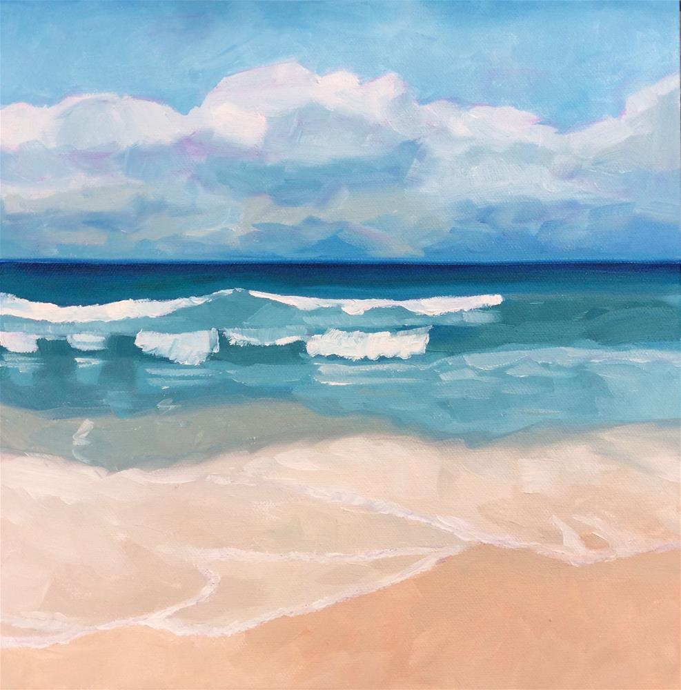 """Just Another Day at the Beach - #1"" original fine art by Carol Stickley"