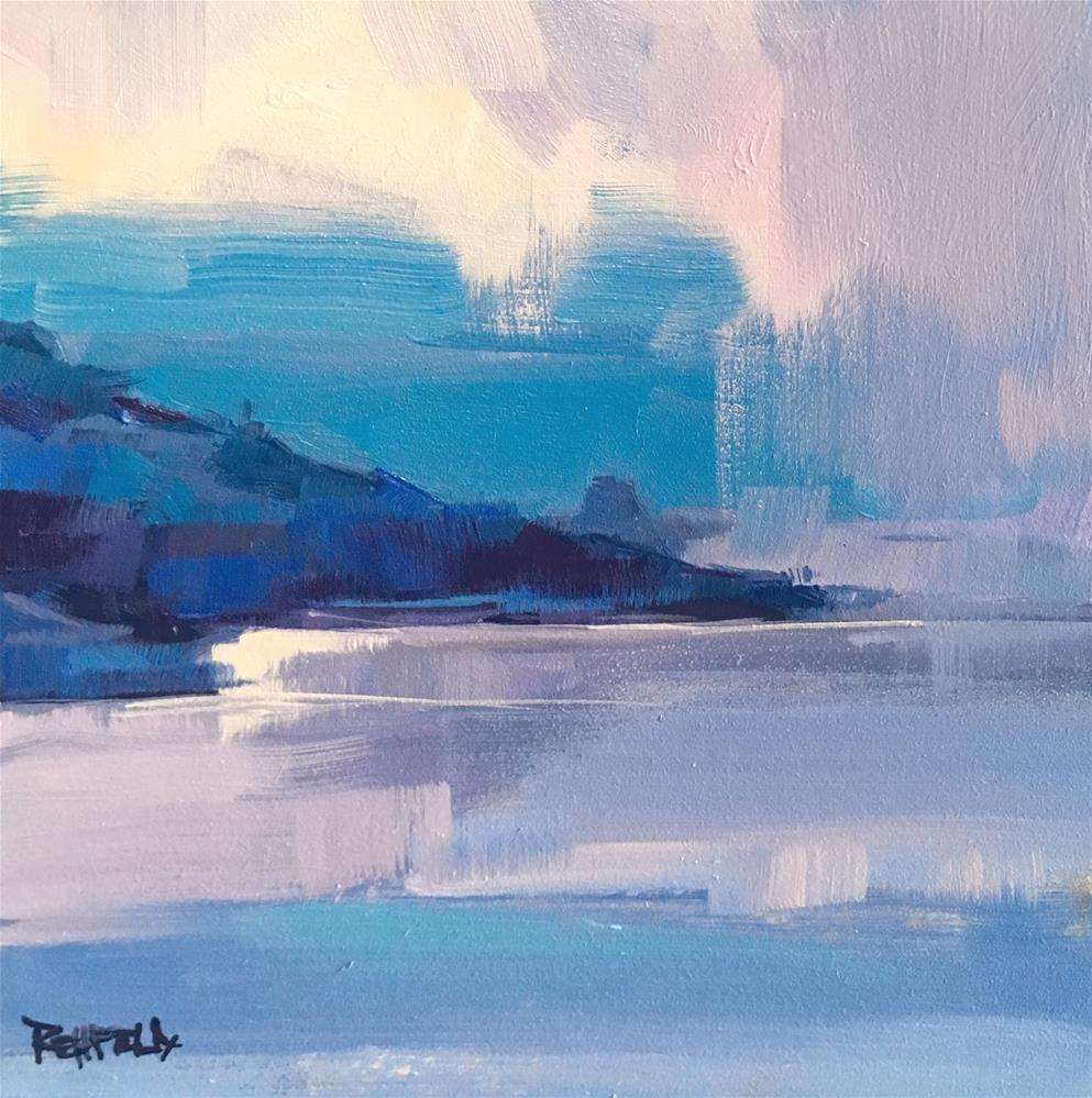 """Blues On The Columbia"" original fine art by Cathleen Rehfeld"