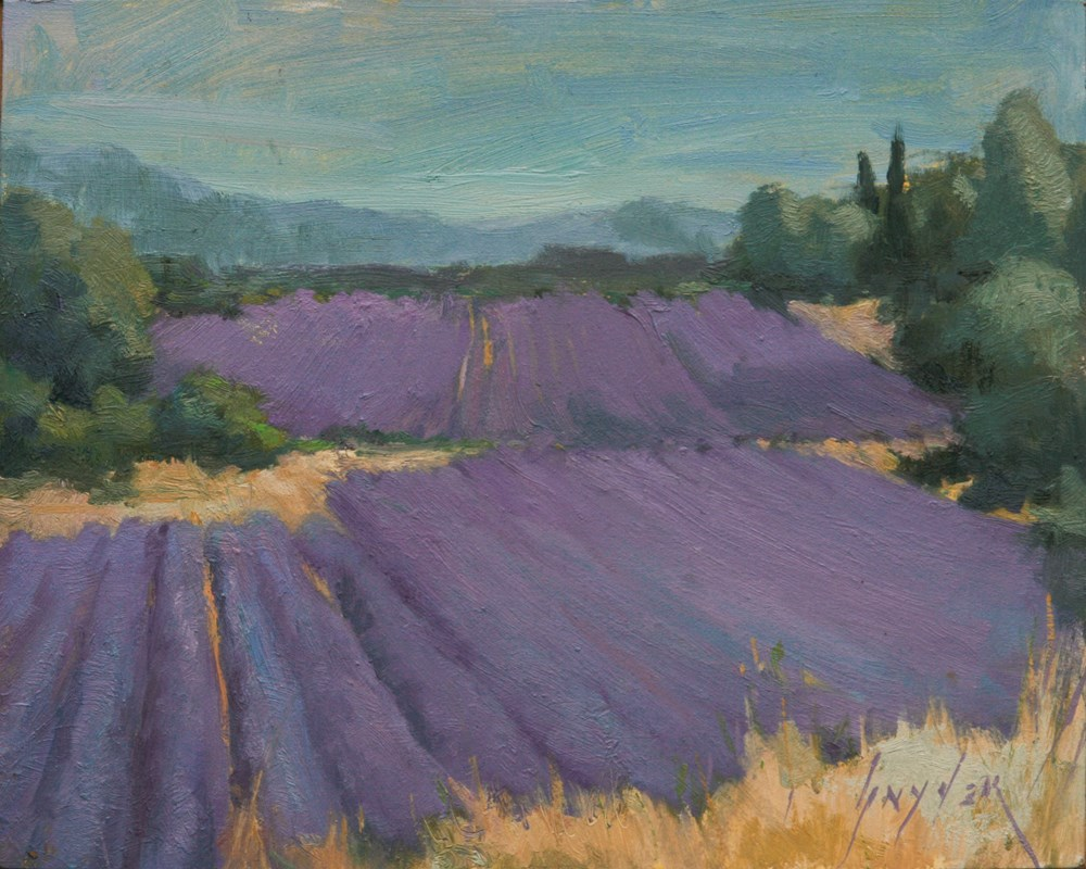 """30 Paintings in 30 Days #10 Rolling Lavender at Lioux"" original fine art by Julie Snyder"