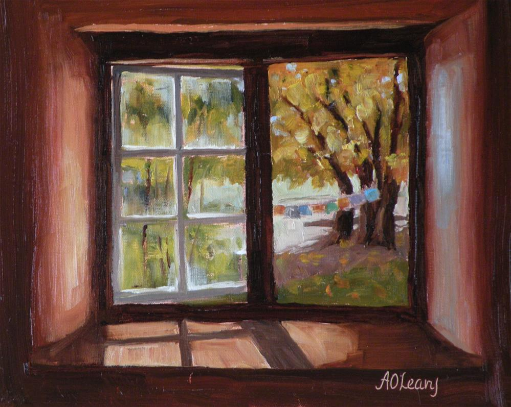 """Library View"" original fine art by Alice O'Leary"